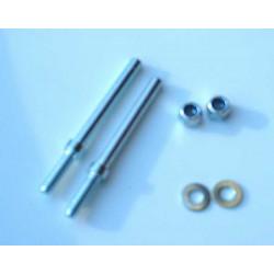 KBMJ 2870 Hjulaxel 4mm/2st
